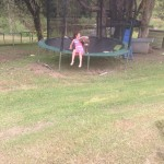 Holl on the Jumpoline. From Palmetto to Coastal Mix. Bare feet all the way.